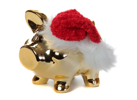 golden piggybank with jelly bag cap photo