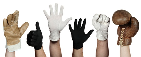 white glove: concept of different gloves