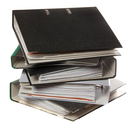 stack of folders as symbol for lot of work photo