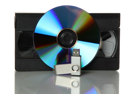 video with dvd and usb stick Stock Photo - 14017263