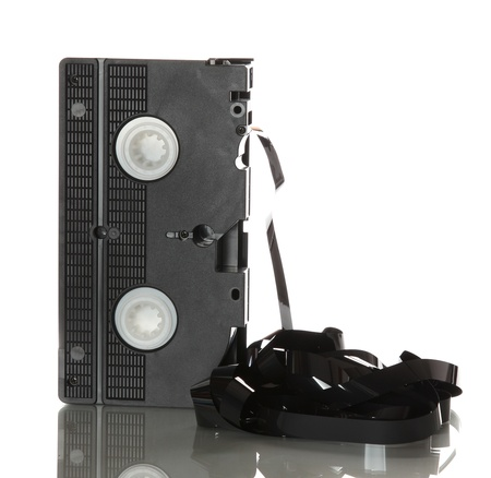 videotape with damaged ribbon photo