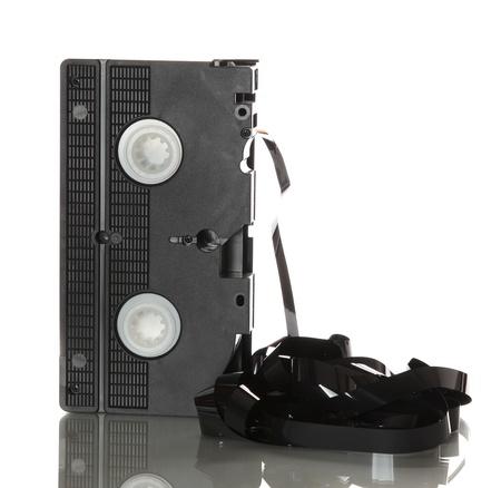 videotape: videotape with damaged ribbon Stock Photo