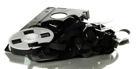 vhs videotape: broken videotape Stock Photo
