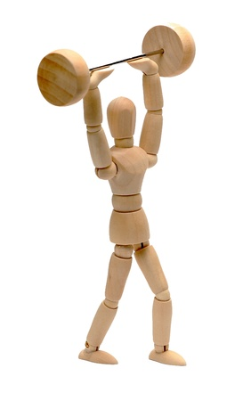 doll doing weight lifting Stock Photo - 15482746