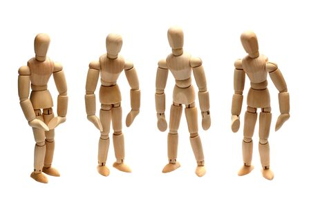 team of wooden dolls Stock Photo - 15482738