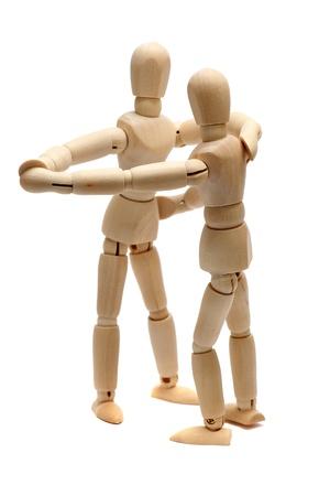 wooden figure: dancing wooden dolls