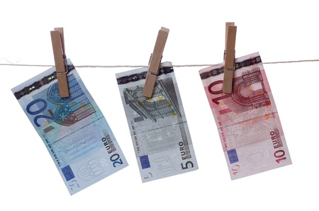 euros drying on line Stock Photo