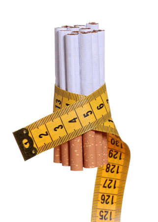 quiting: cigarettes with measure tape