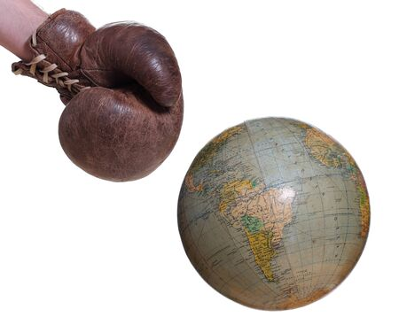 boxing glove and globe Stock Photo - 17013316