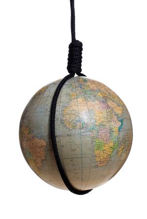 gibbet: globe with black gibbet Stock Photo