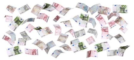 european currency falling from heaven