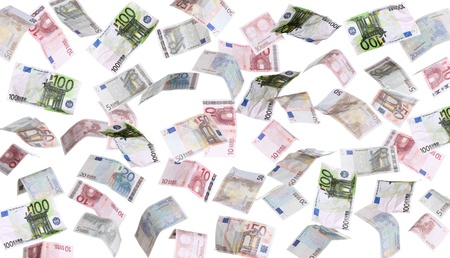 rain of european banknotes