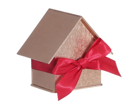 golden house with bow photo