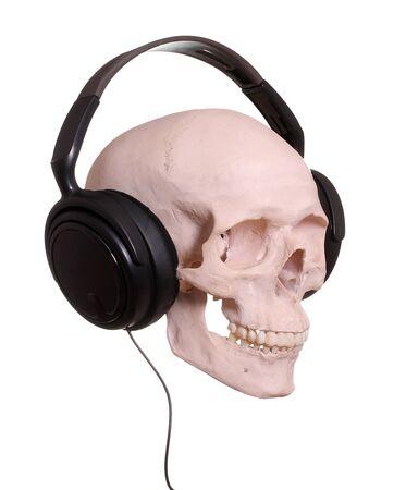 cranium with headphones photo