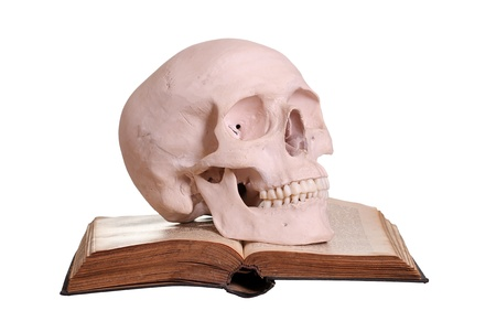 old book with skull photo