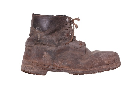 work boots: shabby boot with steel sole