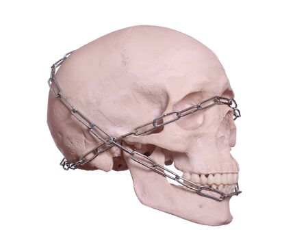 captured skull with chain Stock Photo - 17612206