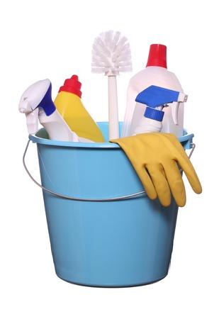 leveringen: objecten voor de lente-schoonmaak Stockfoto