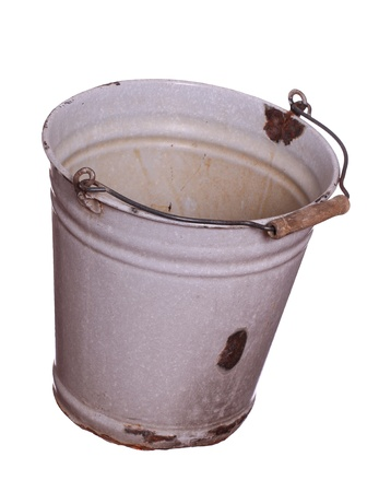 old empty bucket photo