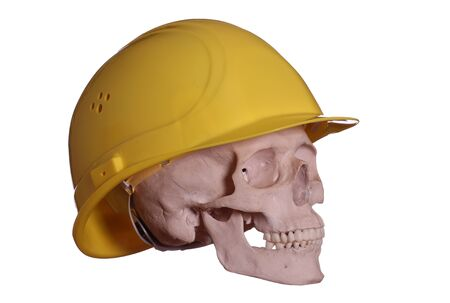 spooky skull with helmet photo