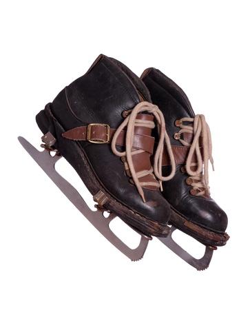 two old skates Stock Photo