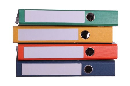 stack of four binder Stock Photo - 18089726