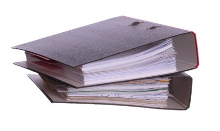 two binder with lot of papers Stock Photo - 18089723