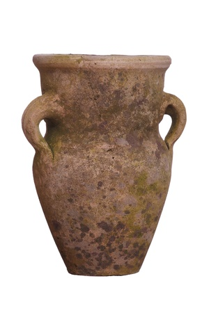 clay pot: old amphora Stock Photo