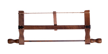 crosscut: old wooden saw