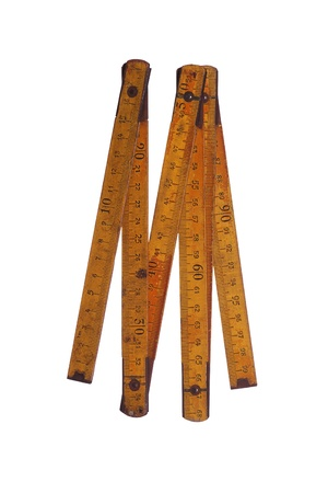 old yellow measure tool