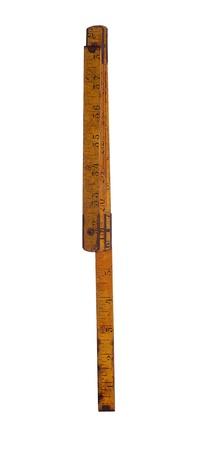 isolated old yardstick Stock Photo