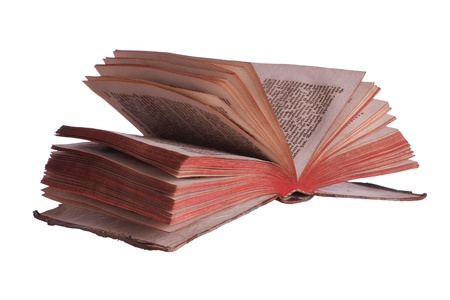 fanned: very old historic book with fanned pages Stock Photo