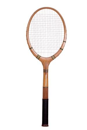 raquet: old tennis racket Stock Photo