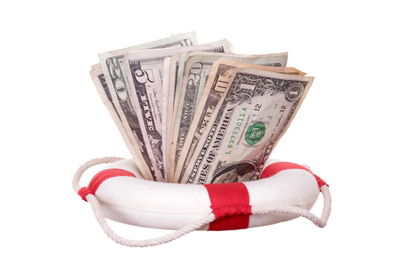 lifebuoy with dollars photo