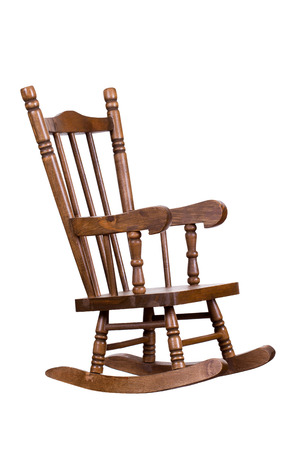 old wooden rocking chair photo