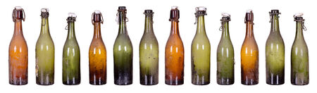 concept very old dusty bottles Stock Photo - 25821082