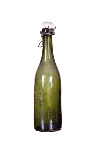 very old dusty bottle photo