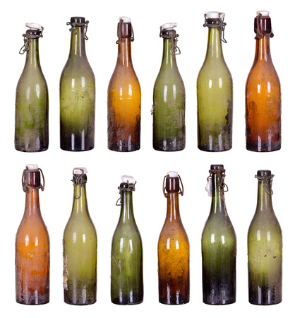 concept very old dusty bottles Stock Photo - 25821279