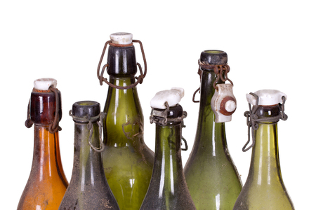 concept very old dusty bottles Stock Photo - 25821340