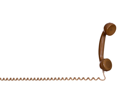 earpiece: earpiece of old phone Stock Photo