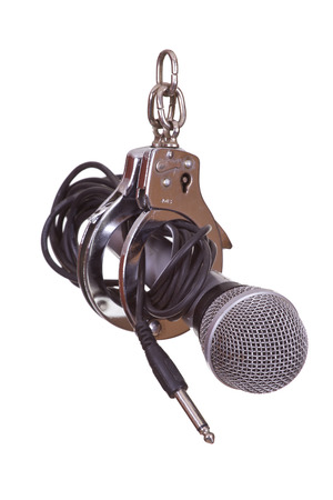 microphone captured with handcuffs photo