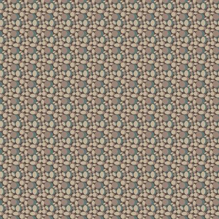 piedra laja: Piedras del patr�n de color beige. Sin fisuras. Resumen de antecedentes. Formas ovales. Textil y de la Web. Textura para wallpape. Resumen de antecedentes. Textura de tarjetas postales e ilustraciones. Vectorial editable. Forma s�lida.