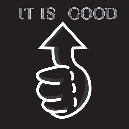 like hand: Like hand vector icon. Business hand thumb up with true sign. Vector illustration of positive and concept. Graphics design. In the black.
