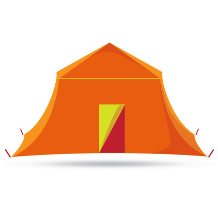 tabernacle: Camping Tent. Vector illustration. Graphics style. Outline image. Single icon. Concept image. Tent on Isolated background Illustration