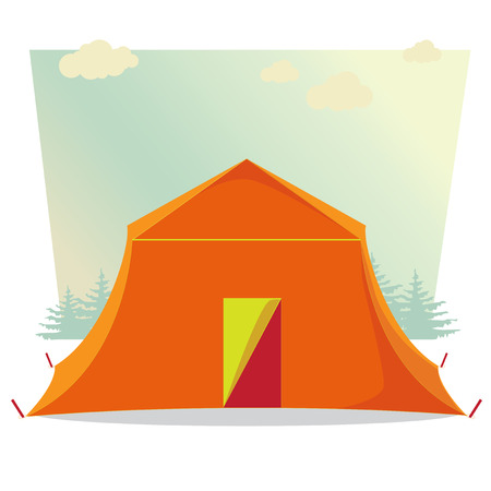 tabernacle: Camping Tent. Vector illustration. Graphics style. Outline image. Single icon. Concept image. Tent Vector.jpg