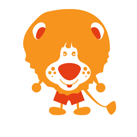 pastiche: Cartoon lion . Decorative animal. Vector characte. Funny. Eps 8
