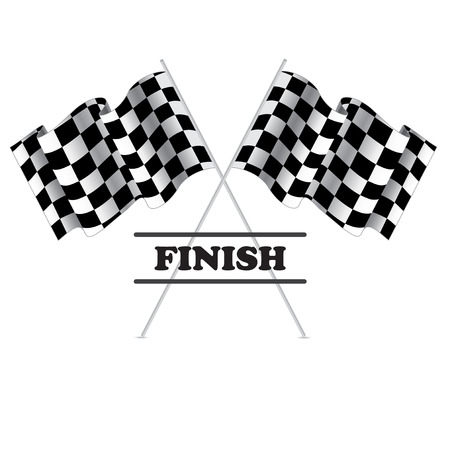 racing checkered flag crossed: Checkered flag for racing. Isolated on white background. Two Finish flag with shadow. Race flag. finish illustration. Waving Checkered flag