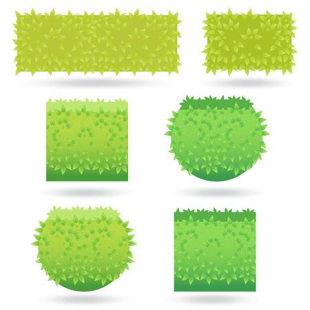 bushes: Bushes icons different colors-02