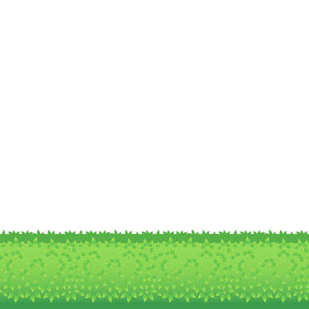 Backgrounds Of Green Grass. Isolated On White Background. Vector Illustration. Cartoon design elements for garden. Eps 8 Vector