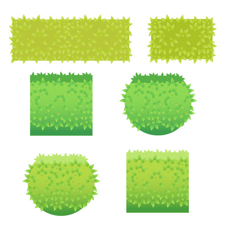 Bushes icons different colors-01 Illustration